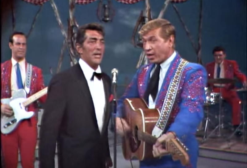 Dean Martin and Buck Owens singing together
